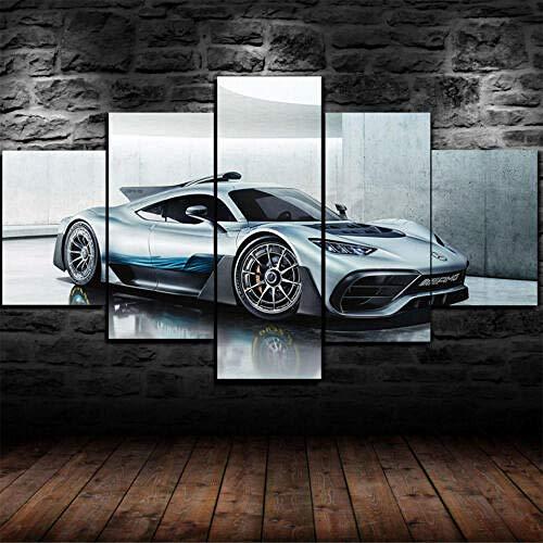 13Tdfc Moderne Wandbilder XXL Wohnzimmer Wohnkultur 5 teilige leinwandbilder XXL Kreatives Geschenk wanddeko EIN gerahmtes Mercedes-Benz AMG-Projekt Malerei