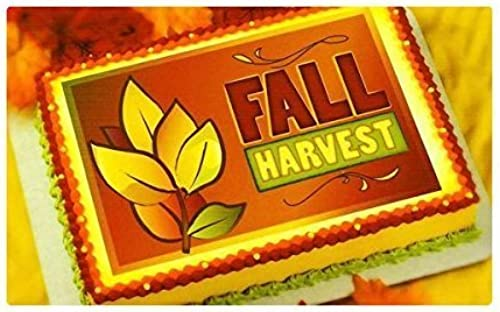 Fall Harvest  Edible Image Cake Topper by A Birthday Place