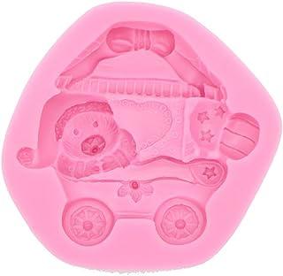 《モモミュゼット》シリコンモールド ベアー&バギー レジン 石膏 アロマストーン 手作り 石鹸 キャンドル 樹脂 粘土 型 抜き型 MD-120057