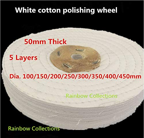 Best Buy! Xucus 100-400 mm 5 Layers Line cotton wheel mirror polishing wheel pure cotton cloth acryl...