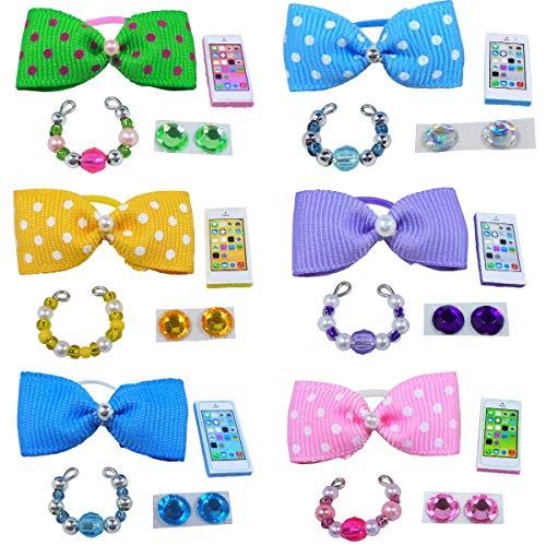 Littlest Pet Shop Lps 4PC Clothes ACCESSORIES GRAB BAG Random Custom Lot Bows