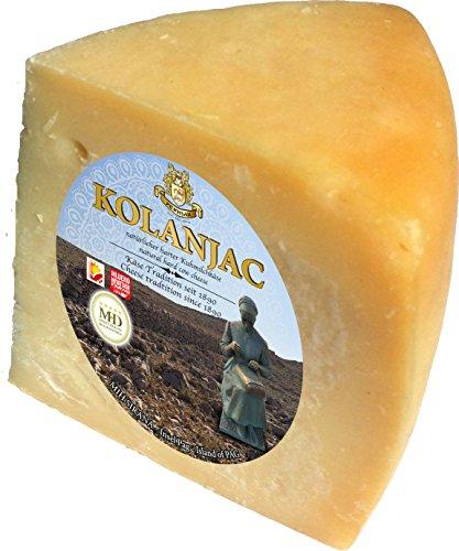 Pager Käse Kolanjac Sir min 300g halbharter Kuhmilchkäse aus Dalmatien, Kroatien - Kroatische Lebensmittel mit Meersalz aus der Saline von Pag