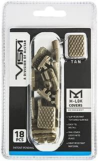 NcSTAR VAML1CT Vism M-LOK Covers, Tan, per 18