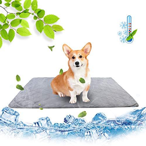 MeijieM Coperta Rinfrescante per Cani Gatti - Tappetino Refrigerante Tappetino di Seta di Ghiaccio per Animali Domestici Estiva per Prevenzione Colpo di Calore (80 * 110CM)