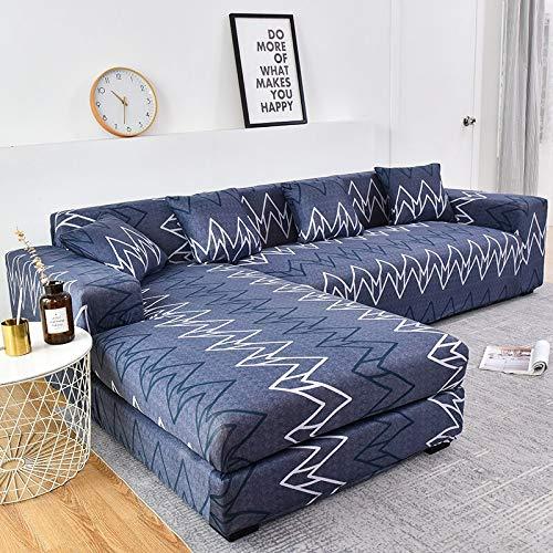 WXQY Funda de sofá elástica de algodón Funda de sofá elástica para Sala de Estar Funda de sofá a Prueba de Polvo Completa Funda de Chaise Longue sillón A24 1 Plaza