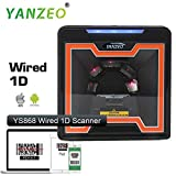 Yanzeo YS868 Laser Flatbed Desktop Omnidirectional Bar Code Reader High Speed Automatic 1D Laser Barcode Scanner Image