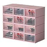 WNRGD Caja de Almacenamiento Transparente y Plegable para Zapatos...