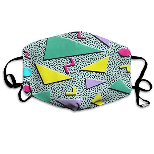 CAIQ Unisex tube gezichtsbandage bandanas UV-bescherming halsmanchet hoofdband grappig jaren '80 & jaren '90 retro neon