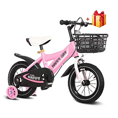 XBSLJ Kids' Bikes, Children Bicycle Kids' Bikes,boy rsquo;s and Girl rsquo;s Bicycle 12/14/16inch Training Wheels and Baskets for 2-5-8 Years Children Best Gift
