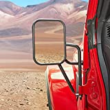 Upgraded Mirrors Doors Off Compatible with Wrangler, QMPARTS No Vibrate & Wobble Wide Vision Mirrors, Side Mirrors for Safe Doors Off Driving for Wrangler JK JKU 2007 - 2018