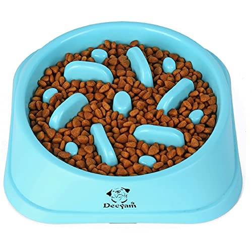 Decyam Ciotole per Cani Anti Ingozzamento Ciotola Cani Mangiare Lento Distributore di Cibo Lento Antiscivolo Durevole