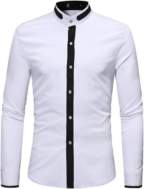 Camisa de Hombre, decoración Simple Estilo Casual Cuello Alto ...