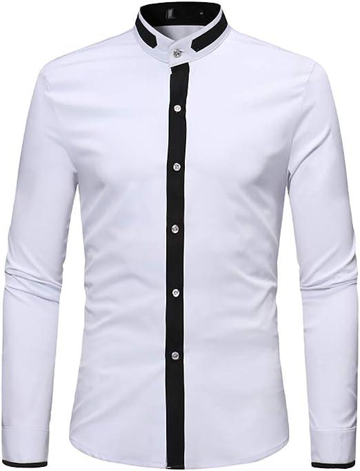 Camisa de Hombre, decoración Simple Estilo Casual Cuello ...