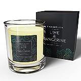 Chandelita Vela Aromática Perfumada con Aroma y Aceites Esenciales de Lima y Mandarina - ...