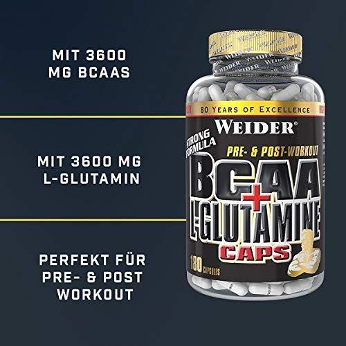 Weider BCAA + Glutamin 180 Kapseln, 1er Pack (1 x 255 g) - 4