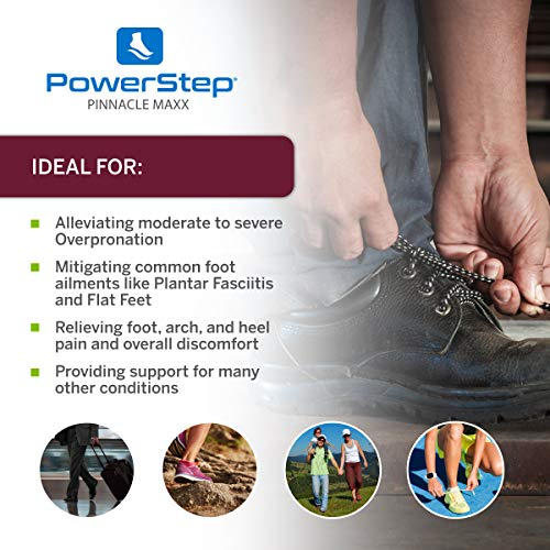 Powerstep Pinnacle Maxx orthopédiques Prend en charge - multicolore - Grenat/noir,