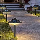 OKESYO Lámparas solares para jardín, lámparas solares para exteriores, forma de seta, lámpara LED para césped, resistente al agua IP55