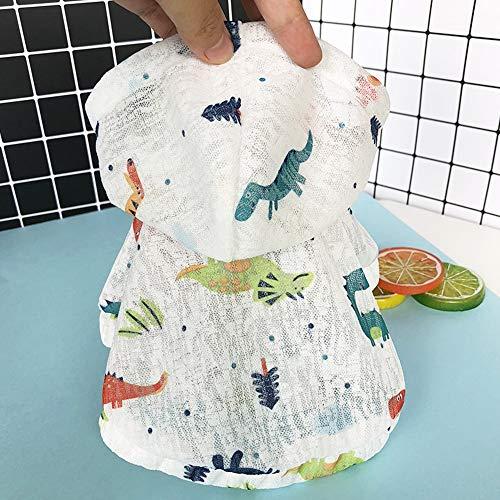 YABAISHI huisdierkleding voor honden, smalle beschermhoes, kleding voor dieren, kleine blouse, kleding met capuchon, XS, 5 stuks.