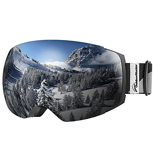OutdoorMaster Ski Goggles PRO - Frameless, Interchangeable Lens 100%...