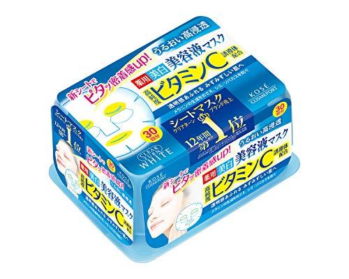 【Amazon.co.jp限定】KOSE コーセー クリアターン エッセンスマスク (ビタミンC) 30回分 リーフレット付 [...