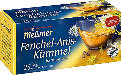 Meßmer Fenchel-Anis-Kümmel - 25 Teebeutel - Vegan - Glutenfrei - Laktosefrei