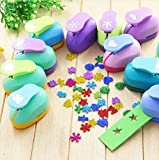 Since Pack of 3 Puncher Scrapbooking Punches Shaped Hole Punch Paper Cutter Scrapbook Embossing Machine Decorative Craft Punch Perforator 15mm,Random Color and Design