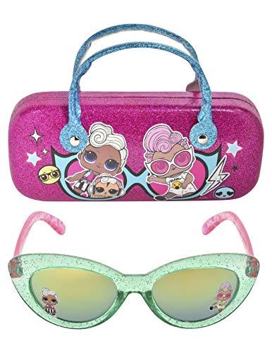 LOL Surprise Kinder-Sonnenbrille für Mädchen, Kleinkind-Sonnenbrille mit Brillenetui für Kinder
