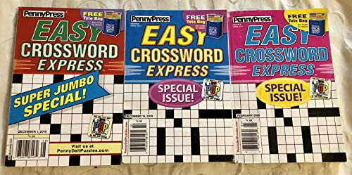 Lot of 3 Penny Press Easy Crossword Express Special Issue Crosswords Puzzles Books 2019 2020