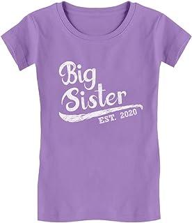 Big Sister Est 2020 - Sibling Gift Idea Toddler Kids Girls' Fitted T-Shirt