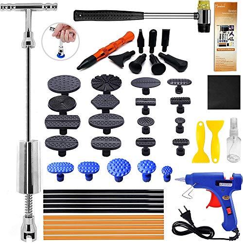 Dellen Reparaturset Gleithammer Repair Set, Ausbeulwerkzeug Dellen Reparatur mit 21 Stück Klebel für DIY Fahrzeug Kühlschrank Waschanlage Dellen Entfernen Ausbeulwerkzeug