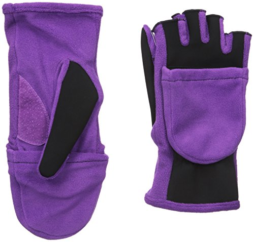 isotoner Women's Flip Top Cold Weather Gloves with Convertible, Open Thumb and Soft Fleece Palm