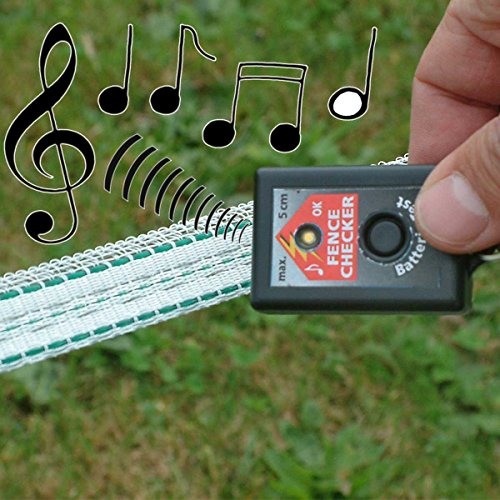 Akustisches Kontrolle/Laufwerk für Zäune Werkzeugset geeignet für Systeme von Zaun von kleinen und mittleren Abmessungen. Dieses Gerät Alarm akustisch und optisch Wenn es ist Spannung am Zaun. Batterien Enthalten. - 2