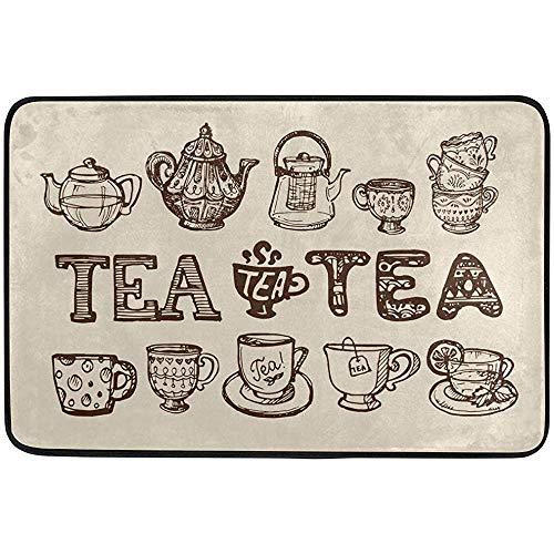 If Not Teekanne Tasse Zeit Vintage fußmatte, Wohnzimmer Schlafzimmer küche Badezimmer dekorative Teppich