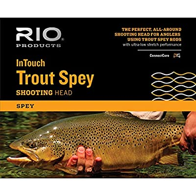 Rio Products Unisex's INTOUCH TROUT SPEY #3 SHD (265GR) Fly Line, Dark Green, 265 GR
