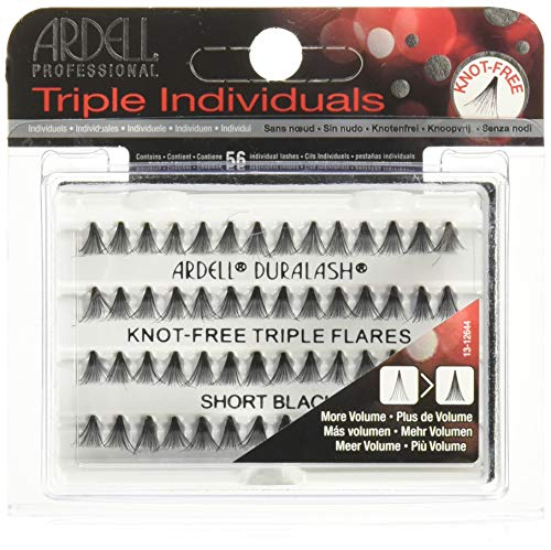 ARDELL Triple Individuals Knot-Free Short Black Faux-cils