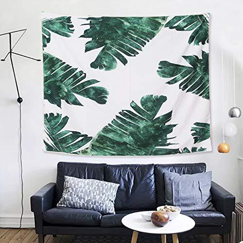 Frische grüne Blätter dicke Pfirsichhaut Tapisserie hängen Vorhang Wandbehang europäische hängende Malerei Wandbild Wandbehang
