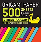 Origami Paper 500 sheets Vibrant Colors 6' (15 cm): Tuttle Origami Paper: High-Quality Double-Sided Origami Sheets Printed with 12 Different Designs (Instructions for 6 Projects Included)