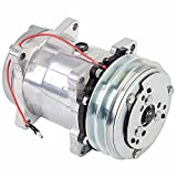 AC Compressor & 2-Groove A/C Clutch For VW Vanagon 1986-1992 Chevy GMC RV Replaces Sanden SD508 SD709 7499 9264 12v - BuyAutoParts 60-01791NA NEW