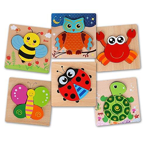 BeebeeRun Puzzles de Madera 2 años