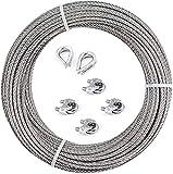 de cuerda de alambre, Kit de Luces para Exteriores, Kit de Suspensión...