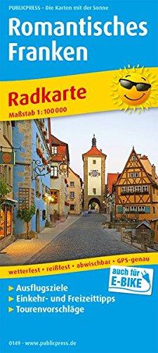Romantisches Franken: Radkarte mit Ausflugszielen, Einkehr- & Freizeittipps, wetterfest, reissfest, abwischbar, GPS-genau. 1:100000 (Radkarte: RK)