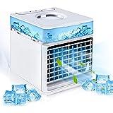 HZIXIXI Climatizador Evaporativo Silencioso - 3 Niveles De Potencia Enfriador De Aire - Dispositivo De Enfriamiento Personal Aire Climatizador Portatil - para El Hogar Y La Oficina