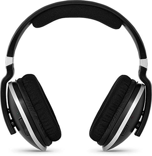 TechniSat STEREOMAN 2 - kabelloser 2,4GHz Funkkopfhörer (für Fernseher und Musikanlagen, mit Dockingstation) schwarz
