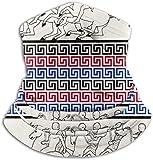 Miedhki Clés grecques avec des courses de chevaux, sur le foulard en marbre, chapellerie, masque solaire pour...