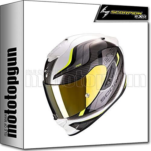 SCORPION INTEGRALHELM MOTORRAD EXO-1400 AIR ATTUNE WEISS-NEON GELB SZ. M