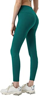 Women's Yoga Pants High Waist Elastic Waistband Tummy Control Workout Running Yoga Leggings Sports Trousers for Fitness Running Workout,Yellow,XL