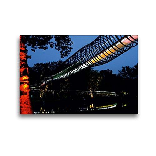 CALVENDO Premium Textil-Leinwand 45 x 30 cm Quer-Format Slinky Springs to Fame, Oberhausen š Wandbild, HD-Bild en Keilrahmen, Fertigbild a Calidad de Christine Daus Animales Animales