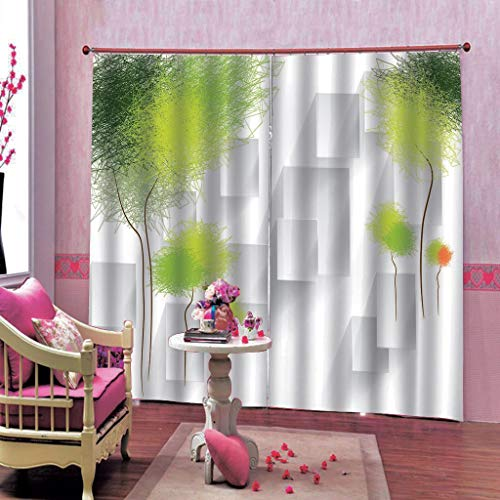 xmydeshoop Stereoscopic 3D Curtains Curtain Window Curtain Blackout Living Room Dandelion Drapes 200(H) x130(W) Cmx2