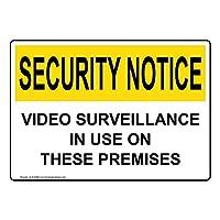 セキュリティ通知ビデオ監視 OSHA 安全標識 35.56x25.4cm セキュリティ/監視のためのアルミニウム ComplianceSigns
