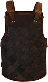 Armor Venue - RFB Viking Leather Armor - Adjustable Body Armour for Men and Women Black